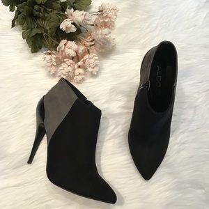 Aldo black & gray booties with stiletto heel